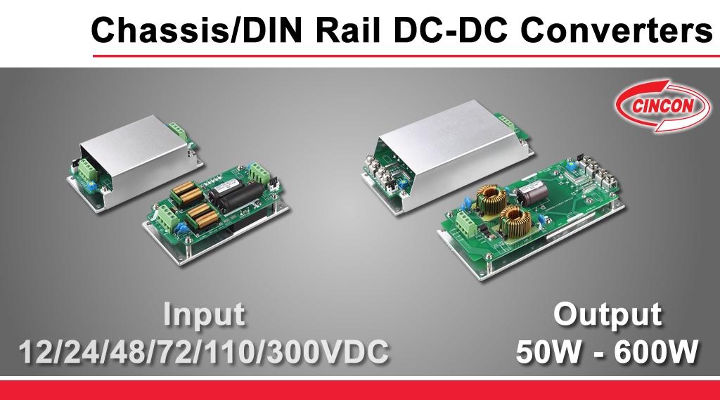 Cincon_chassismount_DIN_Rail_DC_DC