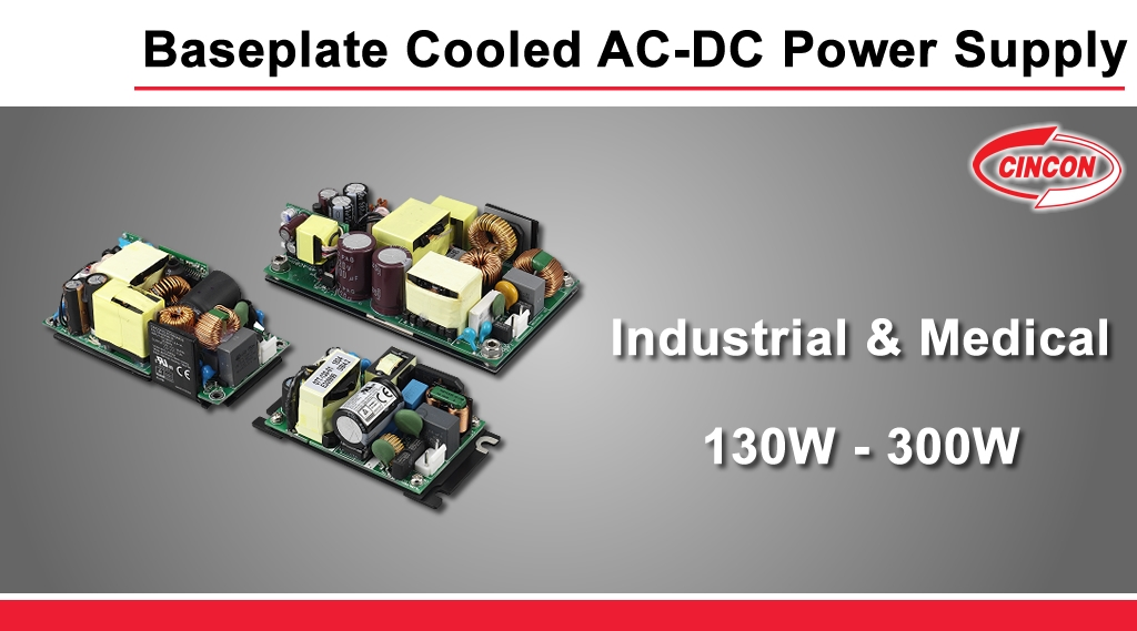 Cincon_baseplated_cooled_ac_dc_power_supply